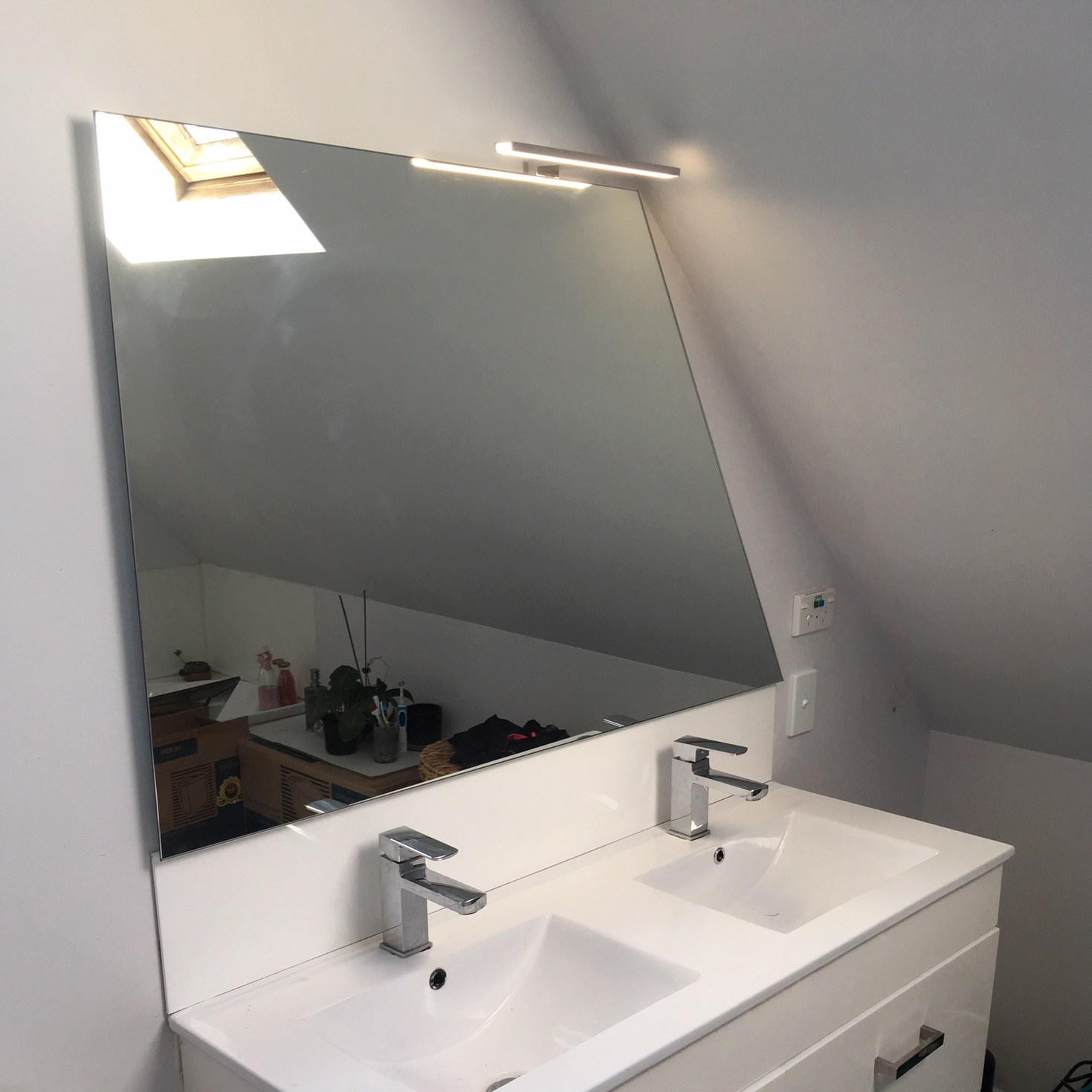 Angled Mirror for Master Bedroom in Whangaparaoa