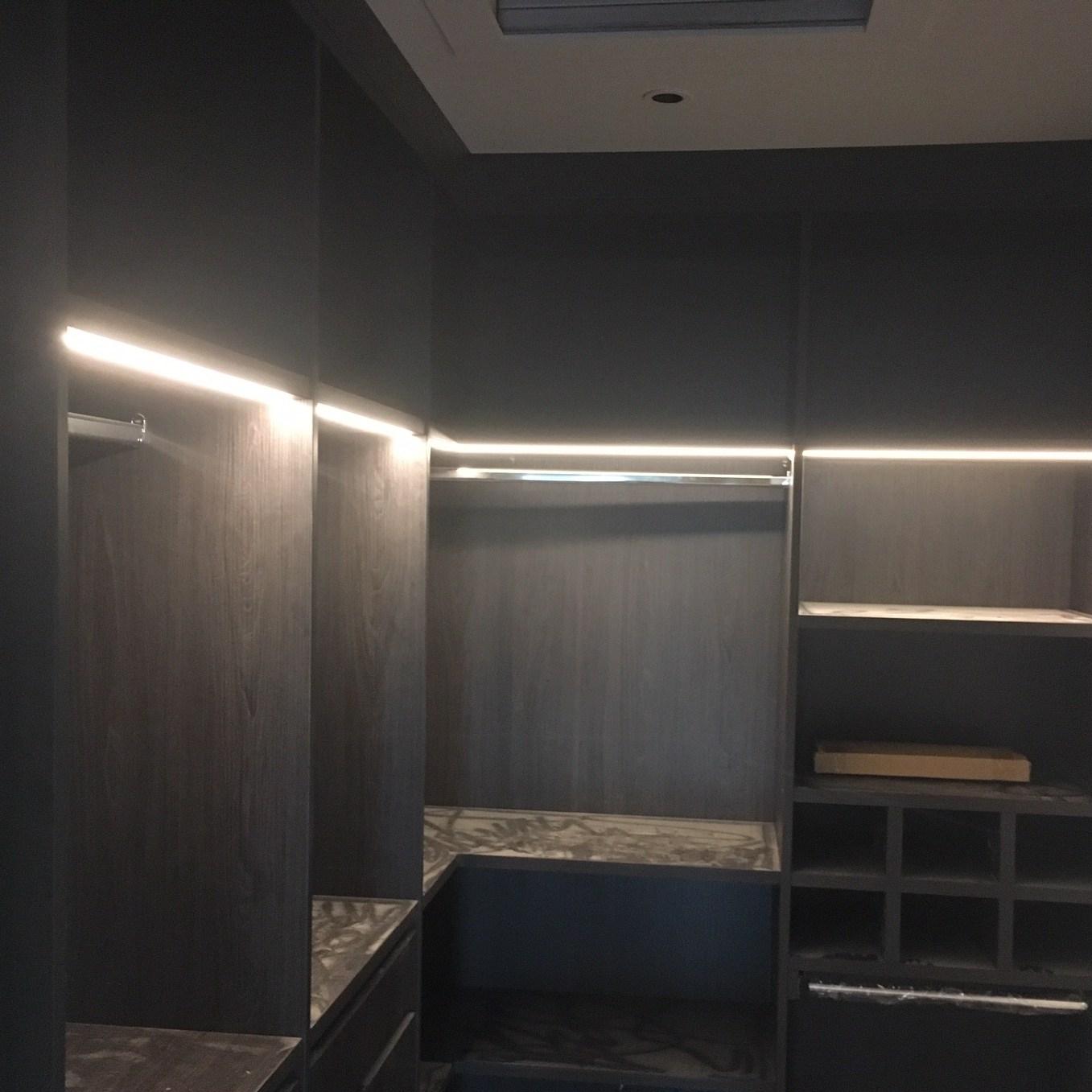 LED Line Lights for Walk-in Wardrobes